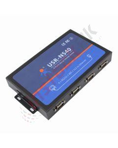 USR_IoT - 4 Port RS232/RS485/RS422 to Ethernet Server | Modbus RTU to Modbus TCP USR-N540