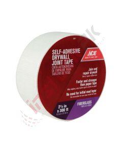 "Ace: Fiberglass Mesh White Self Adhesive Drywall Joint Tape 300 ft, 2.5""W - 13511 462170"