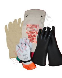Mitchell Instrument: Insulated Electrician Gloves Class 4 (up to 36000V)  Kit - MMJ-36000GKIT