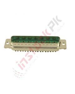 Amphenol: 24 (17 + 7 Power) Position D-Sub, Combo Plug - DD24W7PA00LF