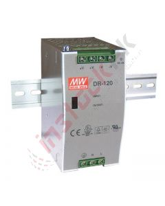 Mean Well - DR-120-12 - AC/DC DIN Rail Power Supply (PSU) 120W, 12VDC, 10A