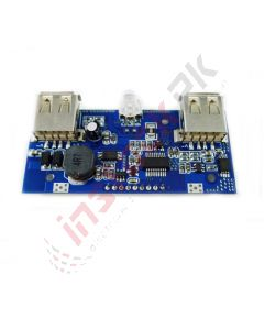 Dual USB Mobile Charger Module With LCD Display (3.7~5V)
