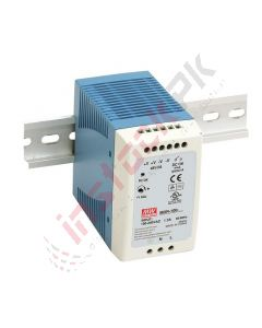 Meanwell: AC-DC Industrial DIN Rail Power Supply; Output 24Vdc at 4A; - MDR-100-24