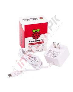 Official Raspberry Pi 4 Power Supply USB-C 15.3W (5.1V 3A)