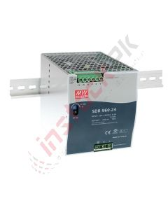 Meanwell: AC-DC Industrial Power Supply DIN rail 24VDC, 40A - SDR-960-24