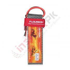 Floureon - Lipo Battery 7.4V 6200mAh 2S 40C with Deans Connector for RC Airplane