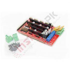 Arduino Mega Pololu Shield For 3D printer (RAMPS 1.4)