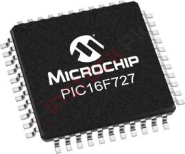 Microchip: PIC Microcontroller PIC16F727 20MHz 14KB TQFP-44 PIC16F727-I/PT