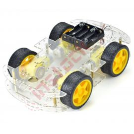 Smart Robot Car Chassis with 4-Wheel Drive (ZK-4WD)