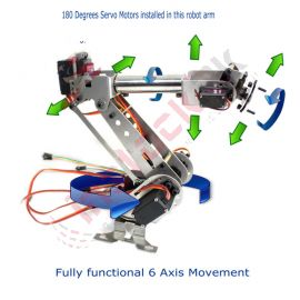Fully Assembled 6 Axis Mechanical Robotic Arm