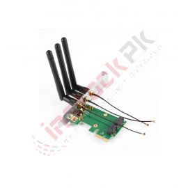 Mini PCI-E Express To PCI-E Wireless Adapter (3 Antennas)