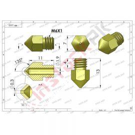 0.4mm Nozzle 3D Printer Extruder Print Head for MK8