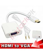 HDMI to VGA Converter with 3.5mm Audio Jack For RPI 3